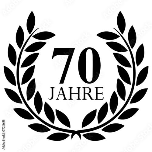 """70 Ungewöhnlich Fotos Von Glühlampen Kaufen: """"Lorbeerkranz. 70 Jahre Jubiläum"""" Stockfotos Und"""
