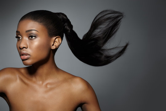 African Woman With Floating Hair