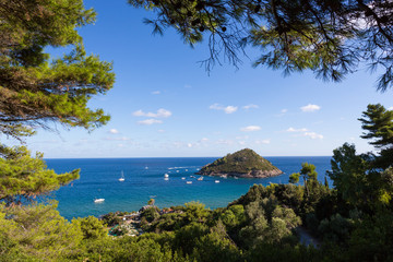 Smal island near Monte Argentario - Mediterranean Sea, Italy