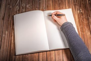 Zu schreiben anfangen