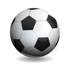 soccer ball isolated on white, vector illustration