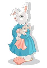 Animali della Fattoria-Coniglia e Figlio