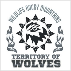 North American designs - Wolves.