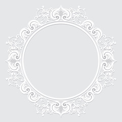 carved vintage frame made of paper for picture or photo