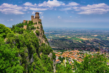 Rocca della Guaita, the most ancient fortress of San Marino Wall mural