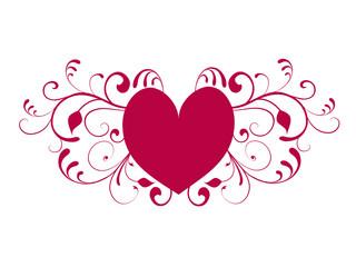 herz,herzen,flora,floral,abstrakt,silhouette,symbol,liebe,heirat