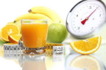 orange juice glass, fruit meter scales diet food