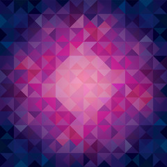 Colorful Cool Toned Triangles - Abstract Background - Vector