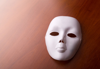 Theater mask on the table