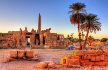 Photo sur cadre textile Egypte View of the Karnak Temple Complex in Luxor - Egypt