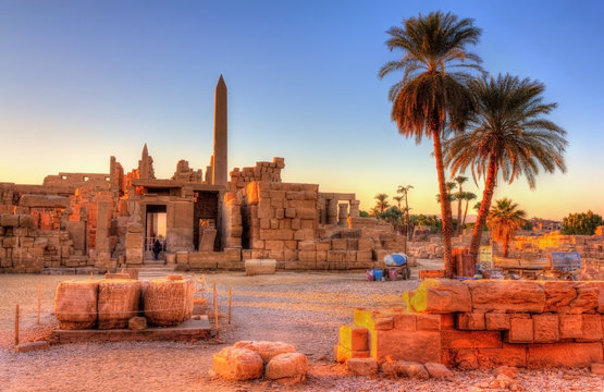 View of the Karnak Temple Complex in Luxor - Egypt