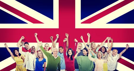 Diversity British Community People Happiness Concept