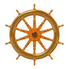 ship wheel isolated