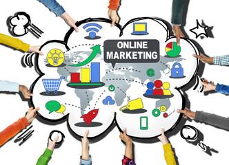 Online Marketing Internet Wireless Computer Concept