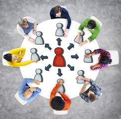 People Logistics Management Connection Social Concept