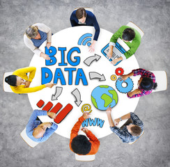 Big Data Information Technology Internet Diverse People Concept