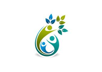 Green Team symbol vector logo design.unity concept