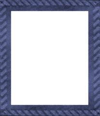 blue leather handmade  frame