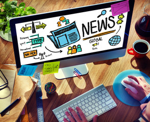 News Journalism Publication Update Media Advertisement Concept