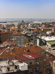 Istanbul, Turkey. Residentials on the bank of the Bosphorus
