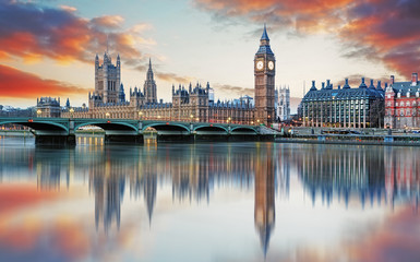 Foto auf Gartenposter Bestsellers London - Big ben and houses of parliament, UK