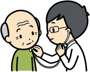 頸部聴診法