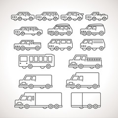Cart Types Outline Icons