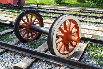 Wheel of Train on Railway
