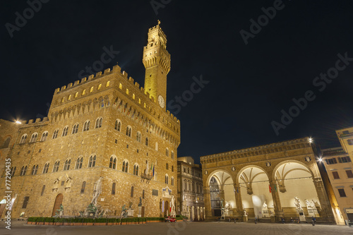 Fotomurales Palazzo Vecchio and town hall building in Florence, Tuscany, Eur