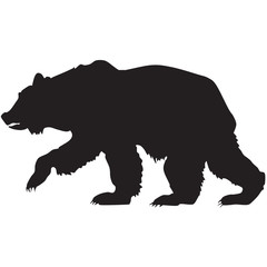 silhouette of a grizzly bear-ill