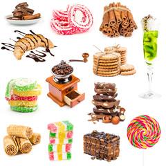 Fototapete - Set of desserts