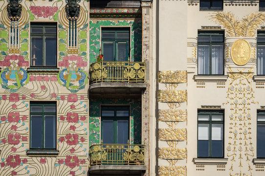 Art Nouveau buildings in Vienna, Austria