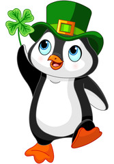 Penguin celebrates Saint Patrick Day