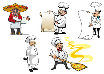 International chefs cartoon characters