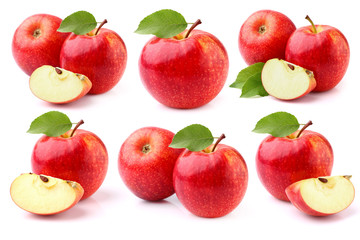 Apples on a white background