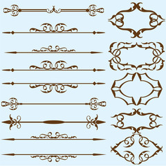 Real vintage ornate lines set