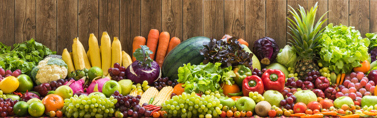 Foto op Canvas Keuken Fruits and vegetables organics
