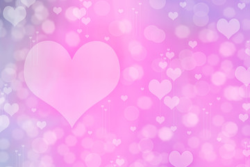 Hearts Abstract Background. St.Valentine's Day Wallpaper.