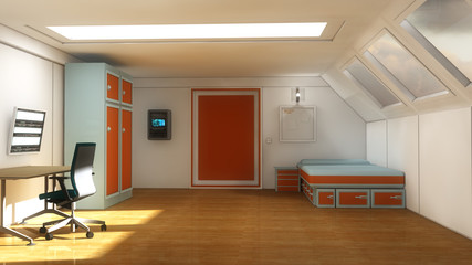 Interior modern youth room