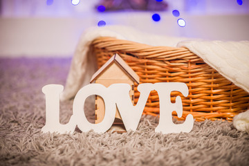 Word love objects in the house