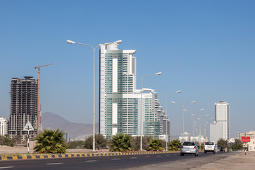 Road in Fujairah City, United Arab Emirates