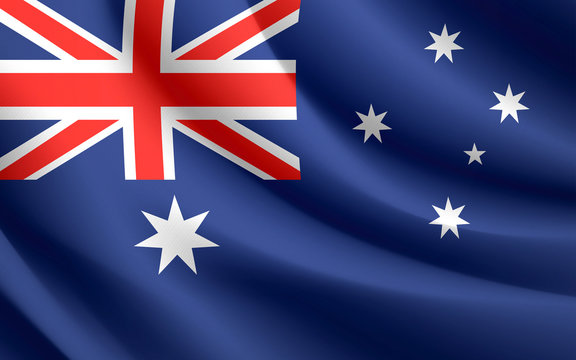 Australia Flag waving vector