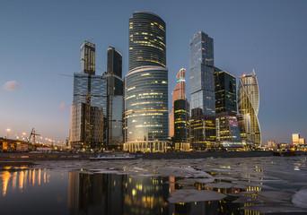 Город Москва. Деловой центр Москва-Сити