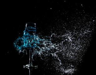 Glas schuss