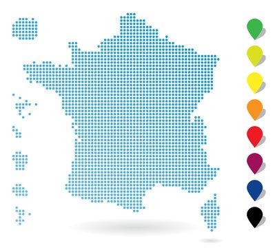 Carte de France / Points
