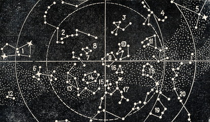 Star map of the southern sky