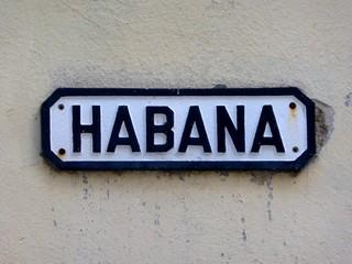 Habana streetsign in Cuba