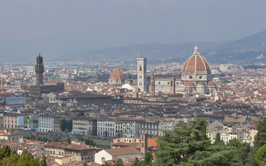 Cityscape of Florence, Italy with the Duomo Cathedral