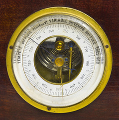 Old aneroid barometer