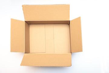 geöffneter Karton